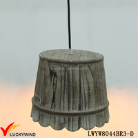 Stylish Handmade Antique Vintage Wood Pendant Lamp