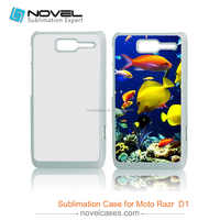 Diy 2D Sublimation Phone Case for Moto D1,Blank Cell Phone Case