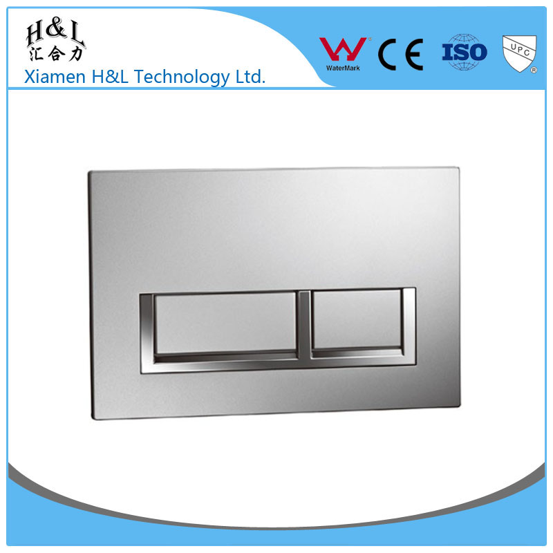 Toilet push plate dual button for concealed cistern