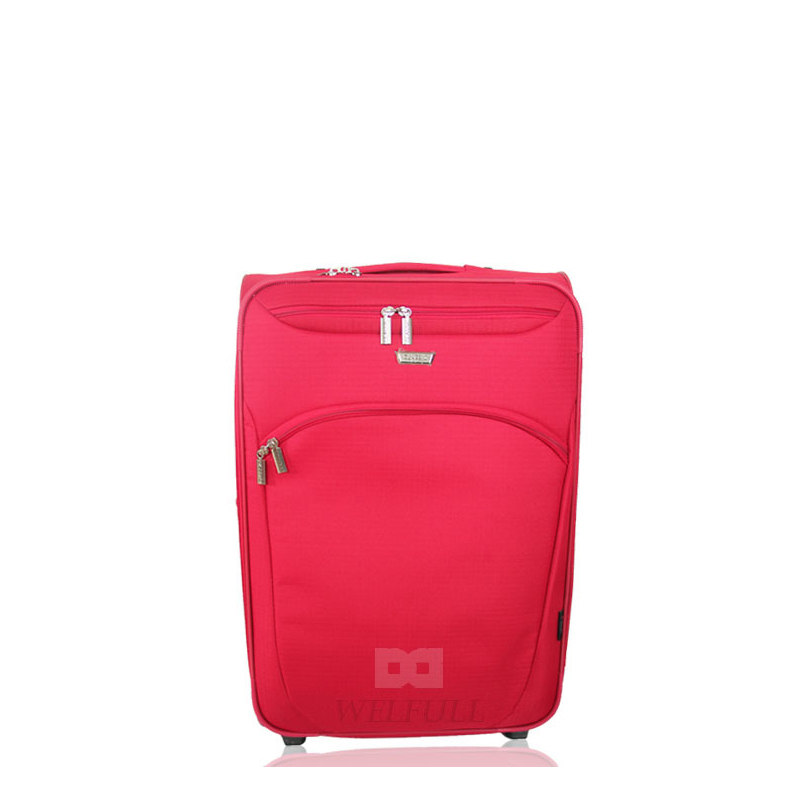 Salable Cheap Red Imitative Nylon Fabric Travel Luggage
