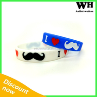 Laser Engraved cheap silicone bracelet with custom logo