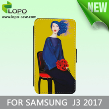 2D Sublimation Leather Phone Cases Blanks For Samsung J3 2017