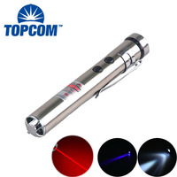 21 CFR Multifunction 50mw 650nm Red Laser Pointer White / UV 390nm Multi Color Laser Pointer