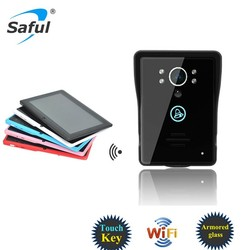 2 way intercom Saful TS-IWP708 wifi z-wave ip network video door bell, support 8 smart phone and tablet