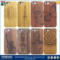 bamboo walnut laser engraving cell phone wood case for iphone 6
