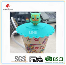 Customized animal shape paper cup silicone cup lid cover