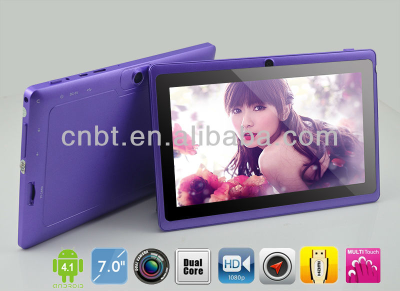 Promotional dual core tablet dual camera q88 android 4.2 with 512MB RAM 4GB flash WiFi