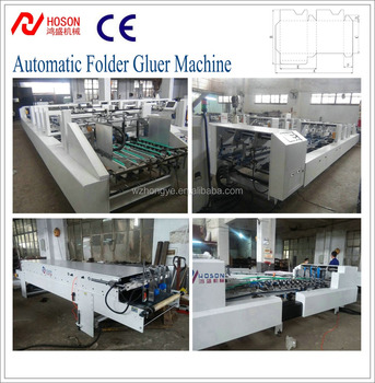 ZH-1300BFT Upgraded Automatic Crash Lock Bottom Paperboard Corrugated Box Folding and Gluing Machine/Folder and Gluer