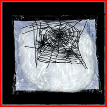 5 colours Hot Stretchable SPIDER WEB Decoration For Halloween Props