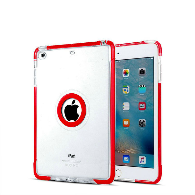 Tough bumper stand TPU and hard pc combo defender case for iPad mini 1 2 3