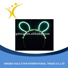 OEM LED Flashing bunny ears hair band/hoop Party products toys