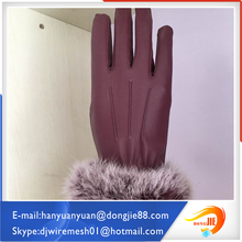 Elegant appearance with fine price western safety gloves black pattern leather gloves