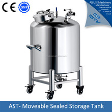 stainless steel sealed movable liquid nitrogen tank