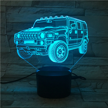 Car Shape 3D Illusion Lamp Night Lamp With Touch Sensor