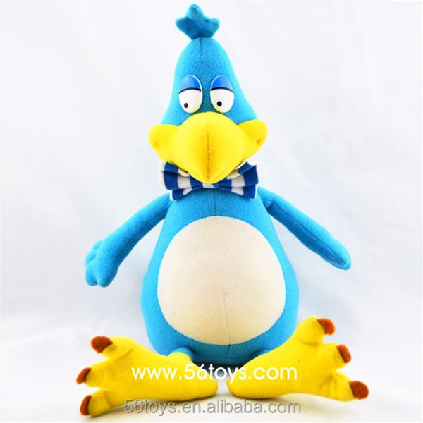 Blue Funny love birds stuffed plush bird toys dodo bird peluche