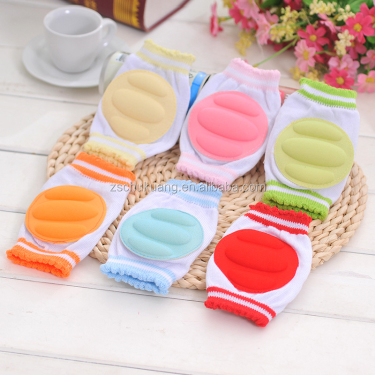 Safe and comfortable colorful breathable soft cotton baby <strong>protect</strong> knee sleeve pads