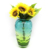 Different types murano vase clear beautiful flower vases glass decoration glass vases