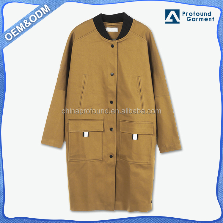 no hood no logo embroidery womens clothing long bomber faux suede fabric winter ladies overcoat jacket wholesale factory china