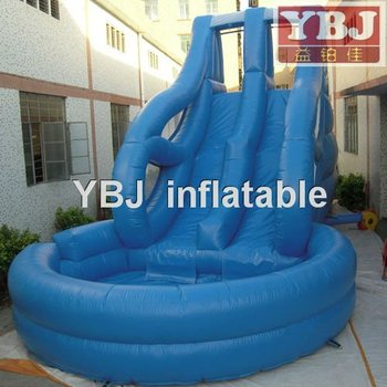 inflatable water pool slide