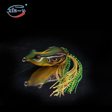 XINV Hight quality Handmade Bass Snakehead Frog Fishing Lure Soft Hollow Body various fishing frog lifelike