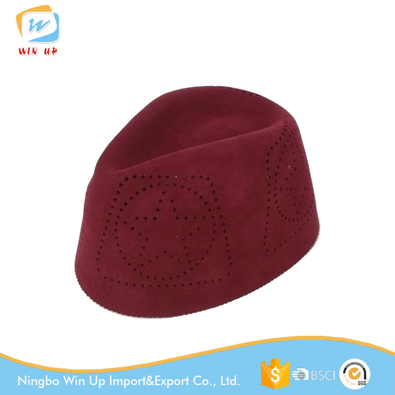 Winup New style 100% Australia Wool felt Muslim caps hats men