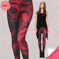 Wholesale Leggings the New 2015 The Spring and Autumn Period and 3D Printing Rose Pattern Leggings Tights Sexy Women Leggings