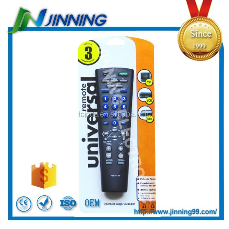 Oem 3 in 1 universal remote control for TV/VCR/CABLE, rf remote control