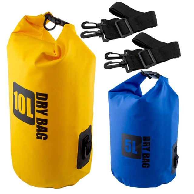 Hot selling 5L 10L 20L PVC waterproof dry bag with your custom logo for swimming drifting