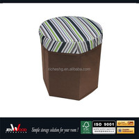 multi function non woven brown collapsible indoor storage cube