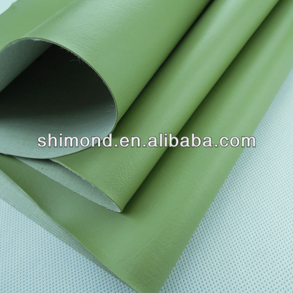 Fresh Green PVC Synthetic Leather For Sofa Upholstery