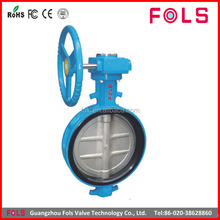 hand lever operated stainless steel wafer type dn80 butterfly valve