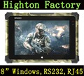HIDON Military Grade 8-Inch 2GB DDR 32GB EMMC 3G / 4G GPS Windows 10 Rugged Tablet PC With RS232 Port