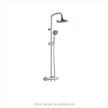 Bathroom Brass Thermostatic Wall Mount Shower Faucets Set