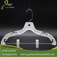 Interesting Products 2016 Adjustable Pants Hangers With Metal Bar And Plastic Clips