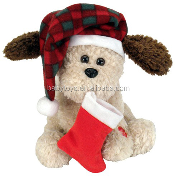 Soft cute plush dog doll toys for chirstmas gift