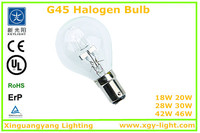 halogen energy saving lamp 40 w light G45,220v antique bulb,halogen lamp 50w