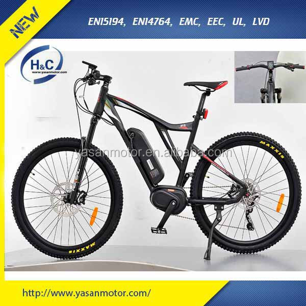 best 36V 48V bafang mid drive 250W 350W 750W 100W motor mountain e bike with bafang new color LCD Display e bike mtb