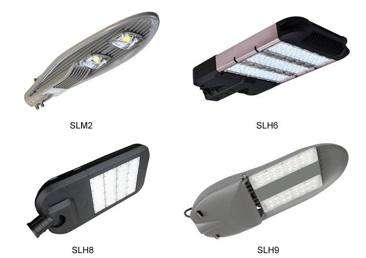 Aluminum alloy housing cob led street light