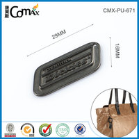Embossed logo custom metal bag parts and accessories