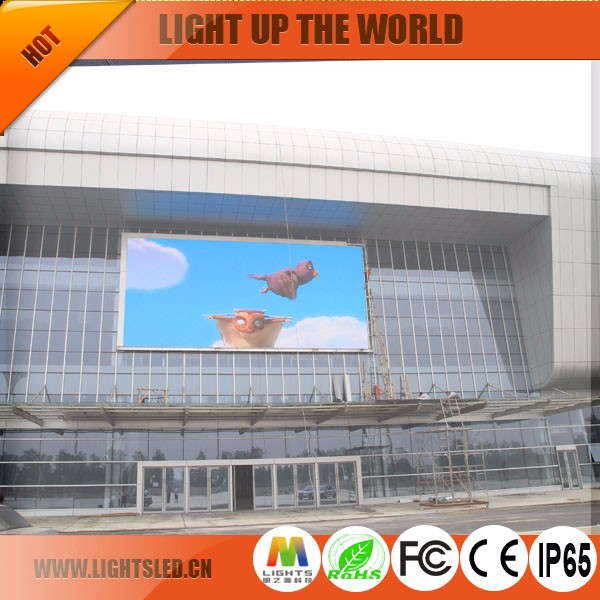 Led display outdoor Transparent Panel Advertising Solar screen p10