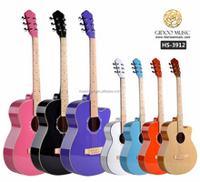 39 inch cheap price guitar Chinese plywood guitar colorful guitar
