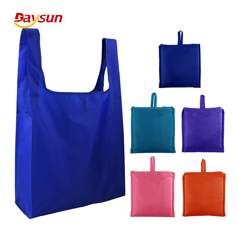 Grocery <strong>Tote</strong> Ripstop Foldable Shopping Bags Pouch Polyester Bag