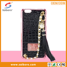 Weave leather with diamond gold string leather mobile phone cases for iphone5