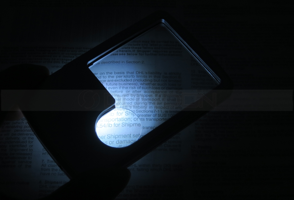 3X 6X LED Illuminated Reading Magnifying Glass