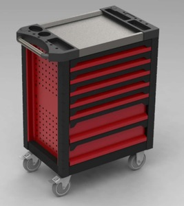 2018 New design Shining / stainless Top tool trolley / Tool cabinet