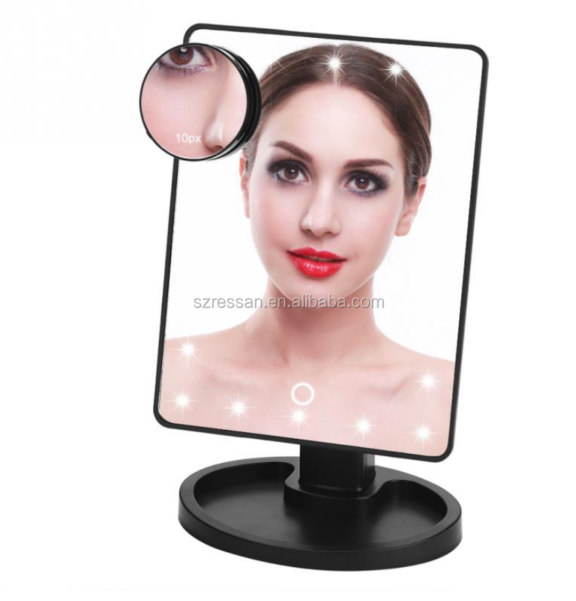LED Cosmetic Lighted Mini Makeup Mirror Compact Travel Portable Lighting Makeup Mirror
