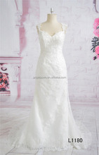 2016 new mermaid backless lace alibaba bridal gown
