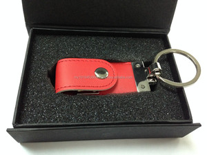 Leather USB Drive with Key Holder