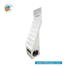 Low price of custom recyclable paper Corrugated Cardboard Greeting Cards Display Shelf