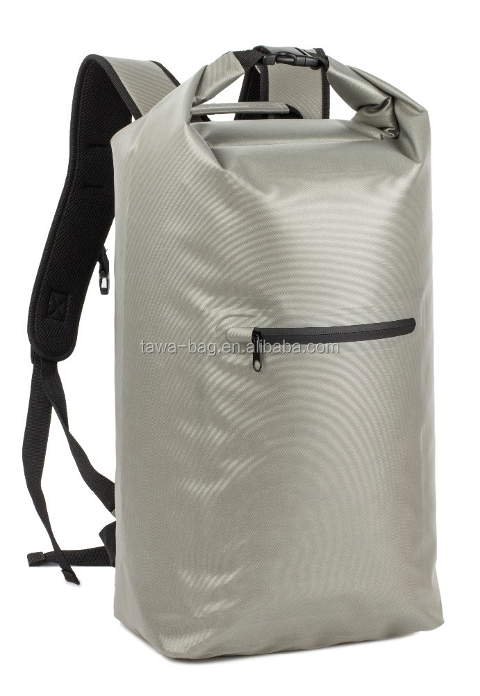 Waterproof dry bag backpack with carry handle